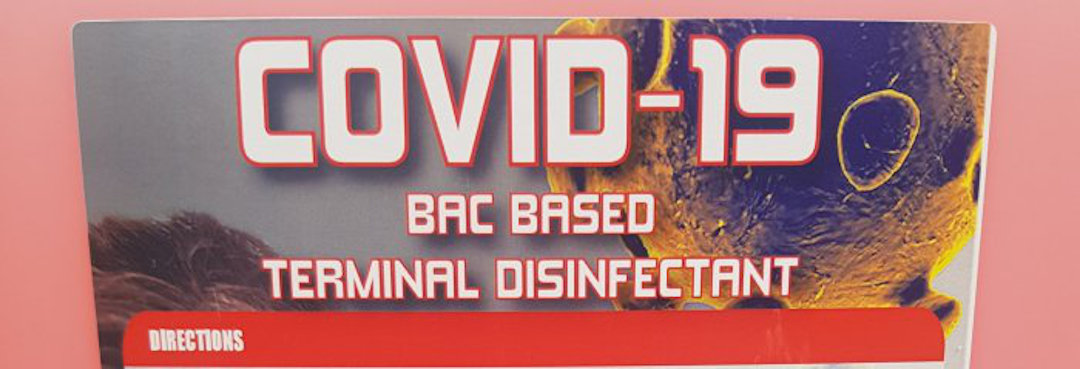 COVID-19 BAC based terminal disinfectant