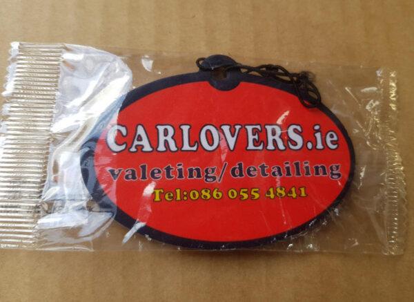 Car Lovers air freshener in a packaging